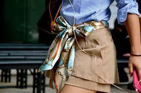 waist tie scarf