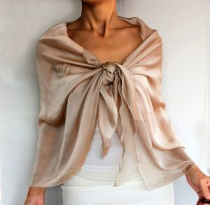 knotted shawl scarf