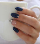 nude blue nails