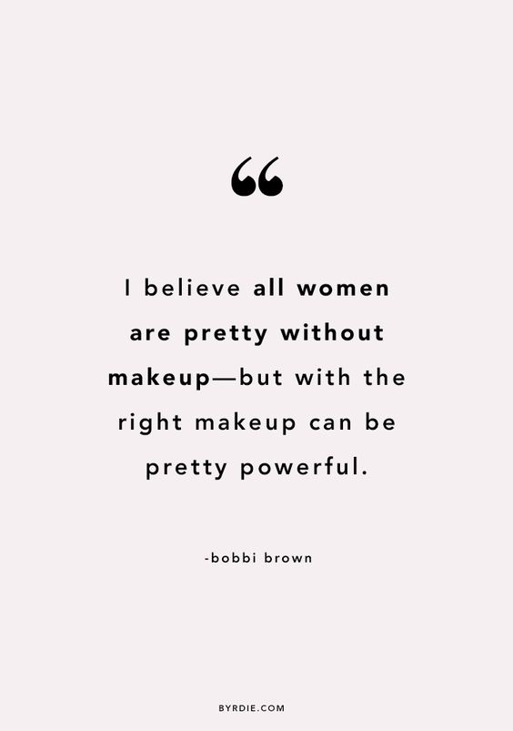 right makeup quote