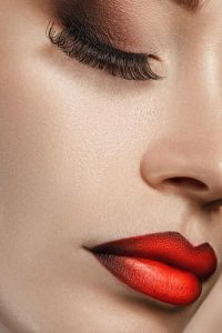 fall makeup red lips