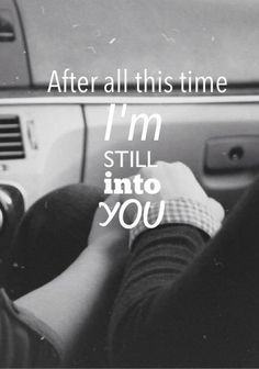 im in to you
