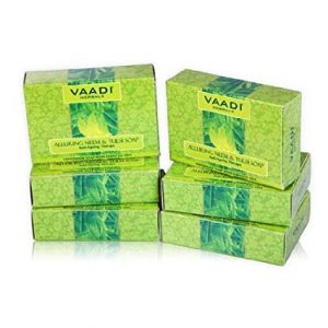Neem Soap (Neem Tulsi Bar Soap) with Aloe Vera Extracts