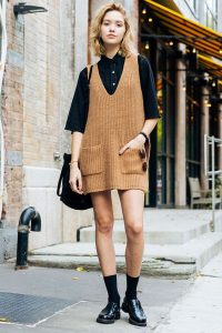 Batwing Top And Knitted Dress