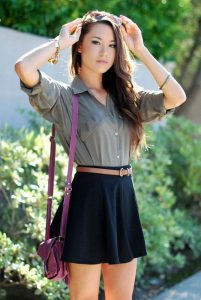 Button Down And Skater Skirt