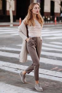 Lace Top And Formal Pants