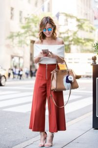Off Shoulders And Culottes