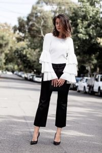 Ruffle Top And Formal Pants