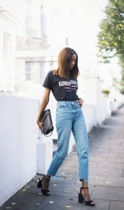 Statement Tee And Cut Off Jeans