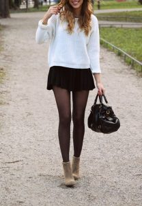 Sweatshirt And Pleated Skirt