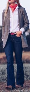 Boyfriend Blazer Outfit And Cowgirl Boots