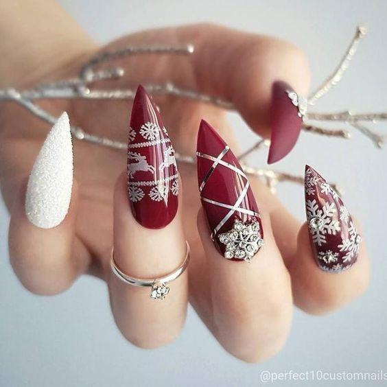 35 Stunning Pointy Stiletto Nails | Stiletto Nail Designs - Part 15