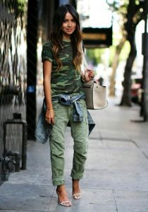 Green army shirt and Green utility pants