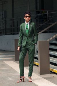 Green suit and pants