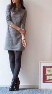 Grey Dress And Grey Leggings