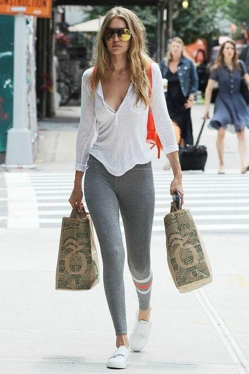 35 Chic Gray Leggings Outfits Ideas Streetstyle Inspiration