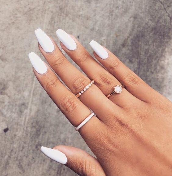 One Way To Achieve A Classy Finish Is Begin With Touch Of Any Plain Nail Color White Will Always Give You The Minimalist Elegant Getup
