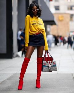 Yellow Jacket And Red Boots