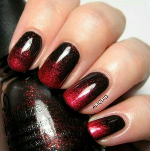 Black and Red Holographic Polish
