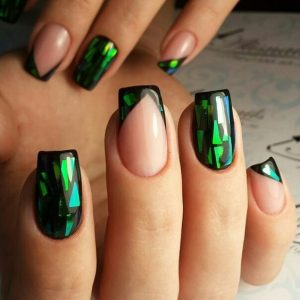 Holographic Emerald Green
