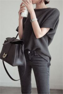 Baggy Wool T-shirt And Jeans