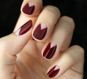 Burgundy Nails Featuring the Base Coat