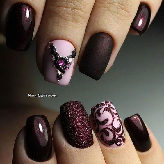 30 Burgundy Nails Burgundy Nail Color Ideas
