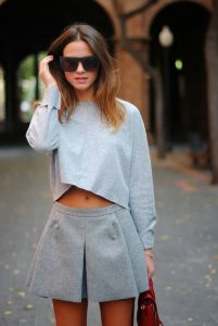 Cropped Jumper With Mini Skort