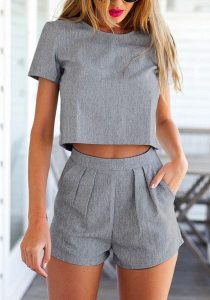 Formal Top And Tailored Shorts