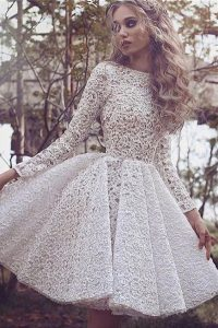 Long Sleeve A-Line Ivory Dress