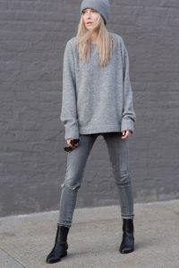 Loose Fit Jumper And Beanie