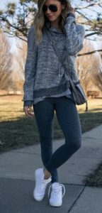 Wide Roll Neck Jumper And Leggings