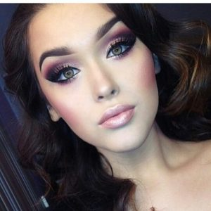 Dramatic Pink And Purple Makeup