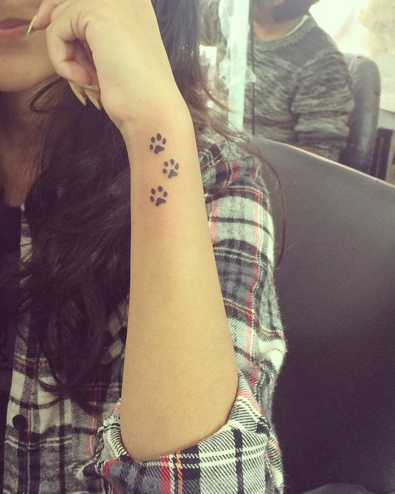 Paw Print Tattoos For Girls: 30 Small Cute Tattoos For Girls