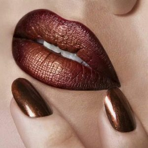 Gold And Burgundy Ombre