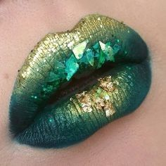 Green And Gold Leaf Ombre