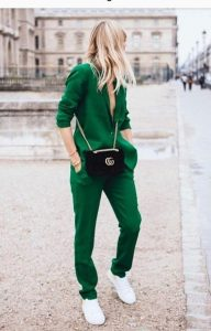Green Blazer And Matching Trousers
