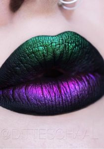 Holographic Green And Purple Ombre