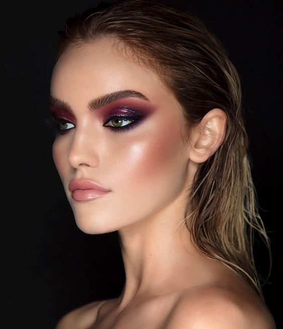 Prom night is the perfect time to start getting experimental with your makeup look. This dramatic look uses a dark purple eyeshadow with hints of glitter ...