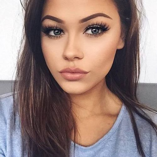 natural makeup long lashes