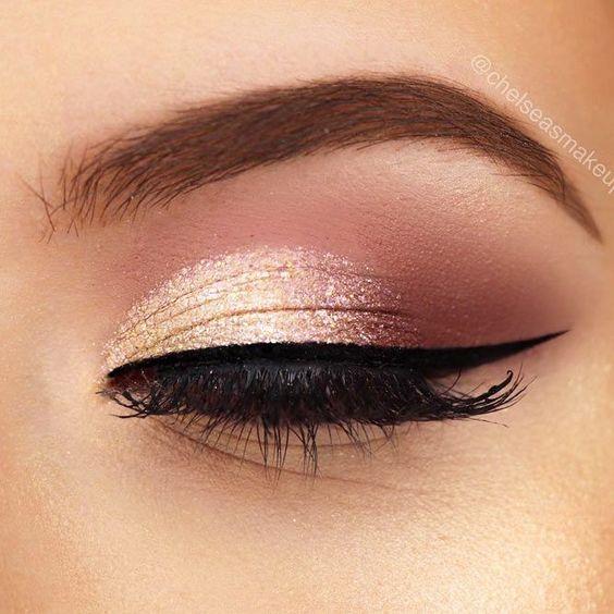 gold pink makeup