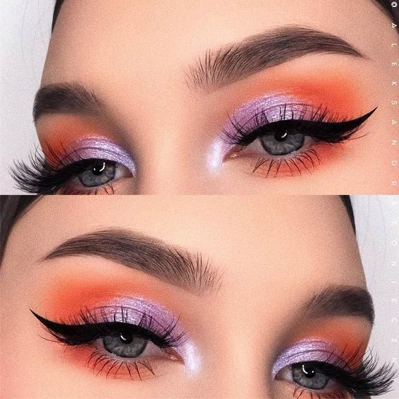 purple and range eyeshadow