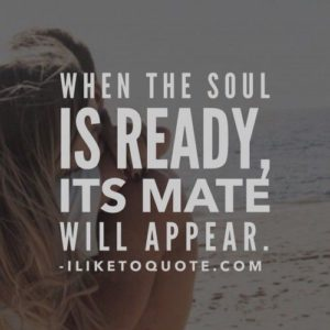 When the soul is ready, its mate will appear.