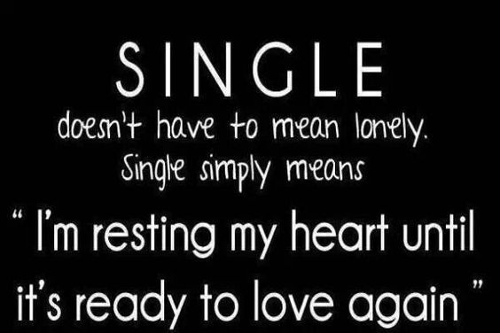 about being single