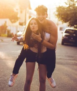 Funny cute couple picture