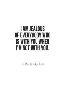 jealous bae quote