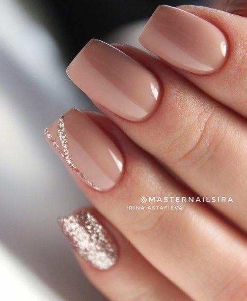 elegant nude nails
