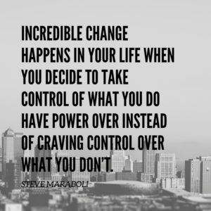 crave control over what you dont