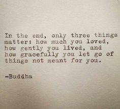 gracefully letting go