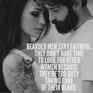 bearded men stay faithful